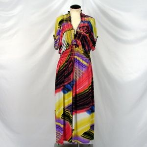 Gold Flava Super Plus splashy color maxi dress 28